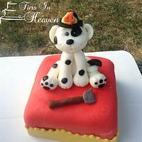 Dalmatian Puppy FireFighter Cake