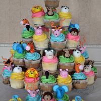 Noah's Ark Baptism Cupcakes