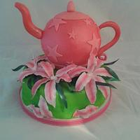 Teapot and Lillies
