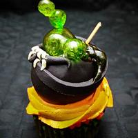 Ghoulish cup cakes!