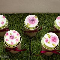 Painted Flower Toppers
