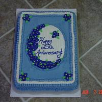 25th Anniversary Sheet Cake