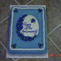 25th Anniversary Sheet Cake