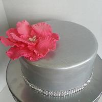 Mother Day Cake with 24 hr Fast Statement Flower by Tomyka