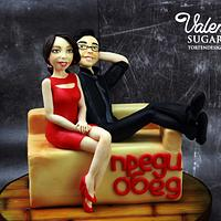 TV host as sugar figurines