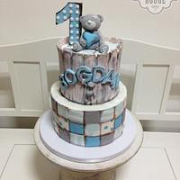 Tatty teddy patchwork cake