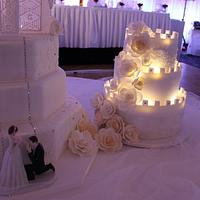 Castle with lights by Paul Delaney of Delaneys cakes