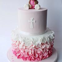 Little kitten christening cake