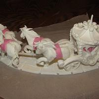 Pastillage Horse and Carriage