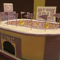 Holy Week Stadium Cake by memphiscopswife