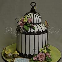 Bird Cage House Warming Cake