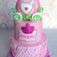Pink Princess Carriage Cake  by Joly Diaz