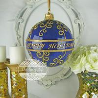 Happy Holidays Scroll Hanging Ornament Cake