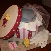 Cake box and hat