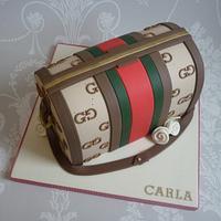 Gucci handbag birthday cake