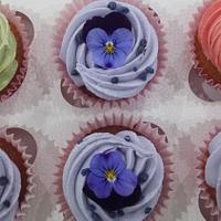 Cupcake Edible flower