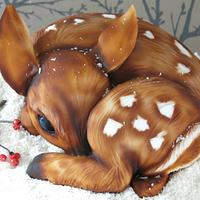 Fifi the Fawn Christmas Cake