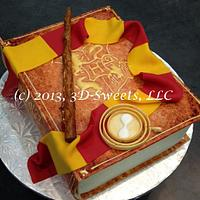Harry Potter Book Cake by 3DSweets