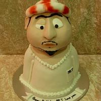 Arab men cake