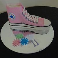 Converse shoe cake by AlphacakesbyLoan