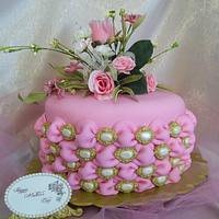 Tufted Billow Weave Mother's Day Cake