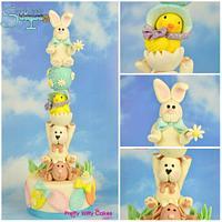 Easter Totem Pole cake