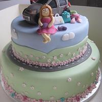 18th Birthday Road Trip cake