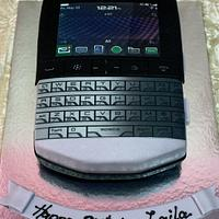 Blackberry porsche design cake