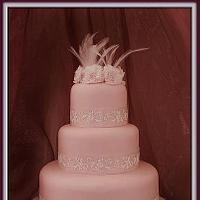 Carnations and Feathers - Pretty in Pink