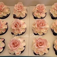 Wedding Rose Cupcakes