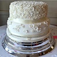 Two tier Madagascan vanilla bean wedding cake