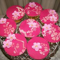Japanese Blossom Cupcakes