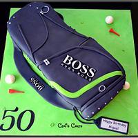 "20"" Golf bag cake"