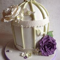 Birdcage and roses by Isabelle