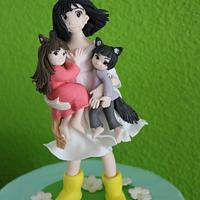 Wolfchildren themed cake
