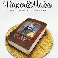 Hand Painted Charles Dickens Little Dorrit Book Cake
