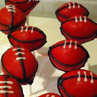 Cake Pops - football theme