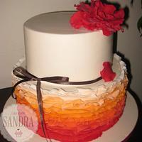 Ruffle cake by Cale Studio Sandra