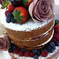 2 tier natural wedding cake by dazzleliciouscakes