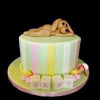 Muttsy Baby Shower Cake