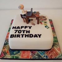 70th Birthday Cake by Sarah Poole