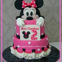 Peeking Minnie Mouse Cake
