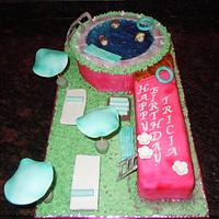 9TH B'DAY SWIMMING POOL CAKE