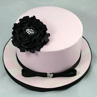 Black Fantasy Flower Bling Cake