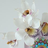 Orchid cake by Cookie Hound!