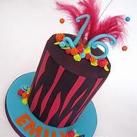 Bright & Bold Sweet 16th Birthday Cake