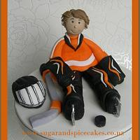 Ice Hockey Cake Topper for a young Champ ~