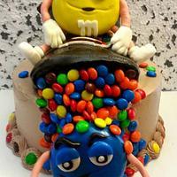 My first M&M cake!