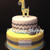 Giraffe chevron print cake