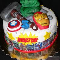 Super herois cake